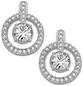 Swarovski Earrings, Double Circle Crystal Stud Earrings