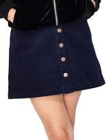 Navy Blue Mini Skirt