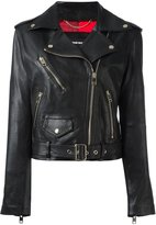 Diesel belted biker jacket - women - Calf Leather/Polyester - XS