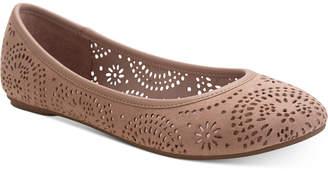 Sun + Stone Sophia Perforated Flats, Women Shoes