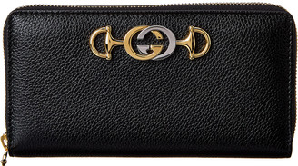 Gucci Zumi Leather Zip Around Wallet