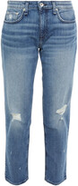 Thumbnail for your product : Rag & Bone Dre Cropped Distressed Mid-rise Boyfriend Jeans