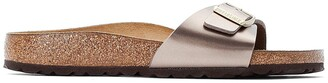 Birkenstock Madrid Metallic Faux Leather Sliders