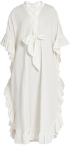 See by Chloe Ruffle-trimmed cotton-blend dress