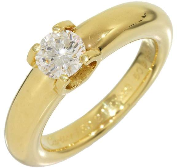 Cartier 18k Yellow Gold 0.50 Ct Solitaire Diamond Ring Size 5.25