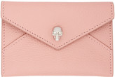 Alexander McQueen Pink Skull Envelope Card Holder