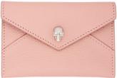 Alexander McQueen Pink Skull Envelope Card Holder