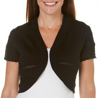 Robbie Bee Women's Missy Short Sleeve Shrug