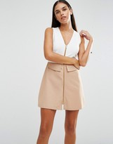 AX Paris Zip Front A Line Skirt Dress