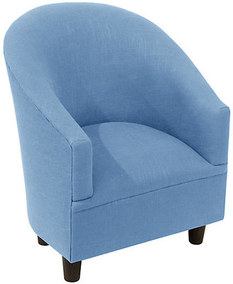 One Kings Lane Ashlee Kids' Chair - French Blue Linen
