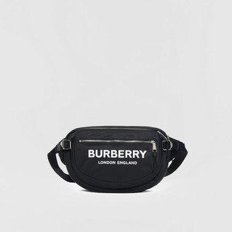 Burberry Large Logo Print ECONYL Cannon Bag