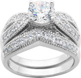 JCPenney FINE JEWELRY DiamonArt Cubic Zirconia Sterling Silver Bridal Ring Set