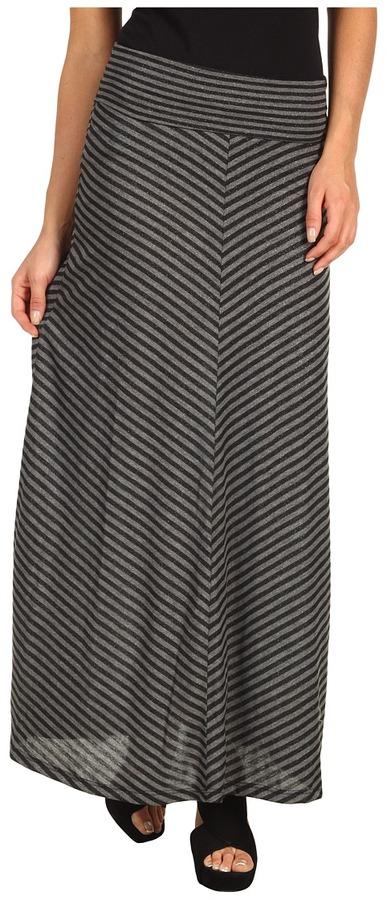 Gabriella Rocha Brieh Stripe Maxi Skirt (Dark Grey) - Apparel