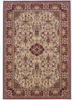 """Couristan Area Rug, Everest Ardebil Ivory Red 2' 7"""" x 7' 10"""""""