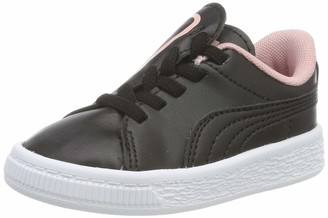 Puma Girls' Basket Crush AC Inf Trainers Black-Bridal Rose 9 UK 27 EU