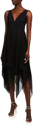 Chiara Boni Waris Sleeveless Georgette Midi Dress