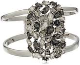 """Kenneth Cole New York Stone Cluster Metallic"""" Mixed Metallic Faceted Stone Hinged Bangle Bracelet"""