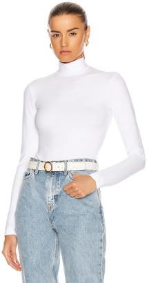 Cotton Citizen Brisbane Turtleneck Bodysuit in White   FWRD