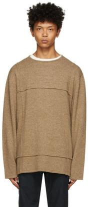 Hope Beige Cut Sweater