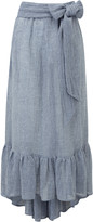 Lisa Marie Fernandez Nicole Tie Waist Ruffle Hem Skirt