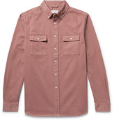 Saturdays NYC Angus Button-Down Collar Broken Cotton-Twill Shirt