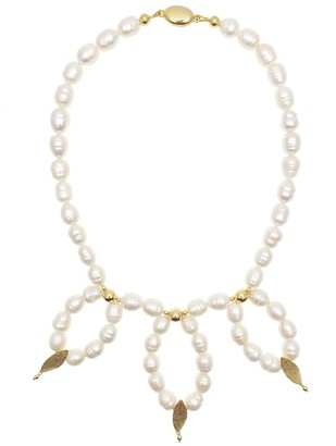 Farra Freshwater Pearls Statement Necklace