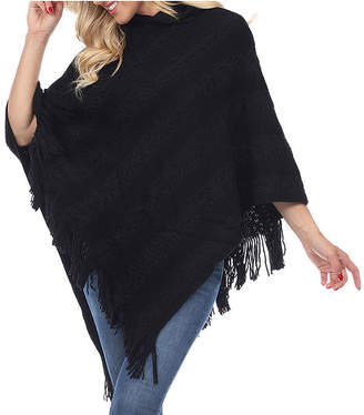 White Mark Casandra Womens 3/4 Sleeve Poncho