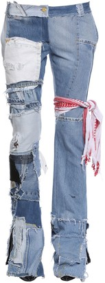 Ronald Van Der Kemp Up Cycled Patchwork Denim Jeans