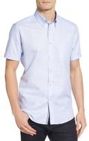 Ted Baker Men's Sweetz Extra Trim Fit Cotton & Linen Sport Shirt