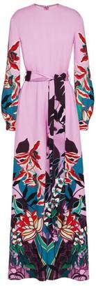 Valentino Silk Orchid Ramage Jumpsuit