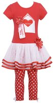 Bonnie Jean White Dot Valentine Spring Outfit Baby Girl 12M