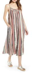 THE ODELLS Vertical Stripe Lattice Yoke Dress