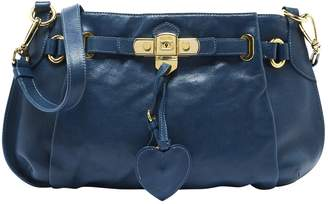 Moschino Blue Leather Handbags