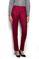 Classic Women's Petite Mid Rise Slim Leg Pants-Black Glen Plaid