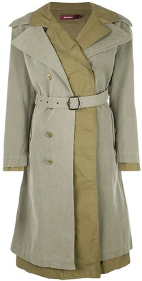 Sies Marjan Belted Double Breasted Coat