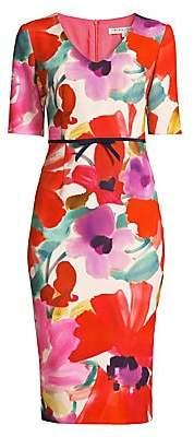 Trina Turk Women's Camellia Blossom Smoothie Mid Century Dress - Size 0