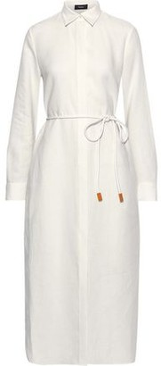 Theory Melange Linen Shirt Dress