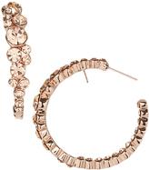 Love Rocks Blush Crystal & Rose Goldtone Cluster Hoop Earrings