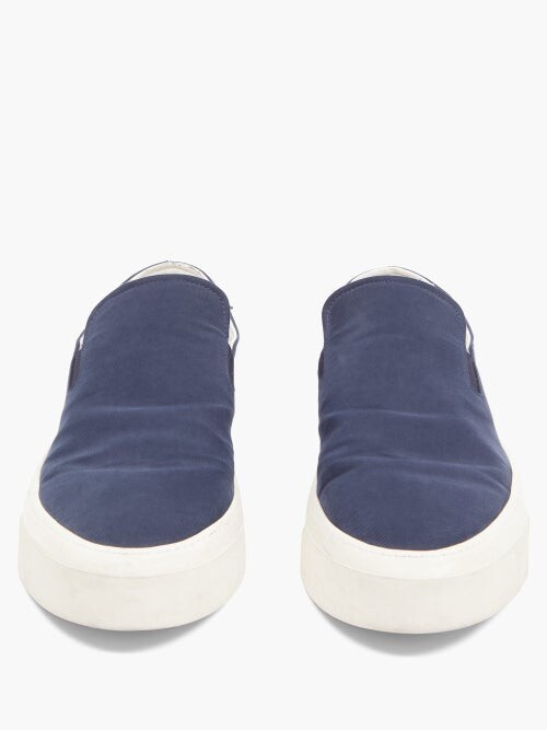 Thumbnail for your product : The Row Mary H Slip-on Canvas Trainers - Navy