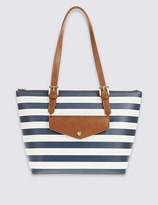 Marks and Spencer Faux Leather Buckle Shopper Bag