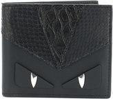Fendi Monster eyes croc effect wallet