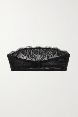 I.D. Sarrieri Embroidered Tulle Bandeau Bra - Black