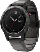 Garmin Men's fenix 5 Sapphire Black/Gray Convertible Strap Smart Watch 47mm 010-01688-20