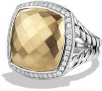 David Yurman Albion Ring with Gold and Diamonds, Size 6