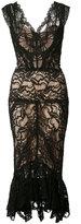 Nicole Miller sheer lace dress - women - Cotton/Nylon/Spandex/Elastane/Rayon - 4