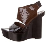 Marni Patent Leather Platform Wedges