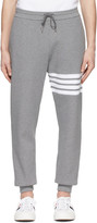 Thom Browne Grey Waffle Knit 4-Bar Sweatpants