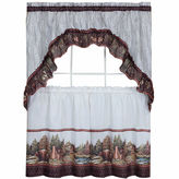 Asstd National Brand Woodlands Window Tier and Ruffled Swag Valance Set