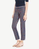 Ann Taylor The Tall Crop Pant In Geo Block - Devin Fit
