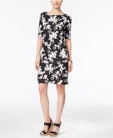 Karen Scott Petite Floral-Print T-Shirt Dress, Only at Macy's